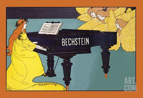 Bechstein - Hark the Angels Stretched Canvas Print