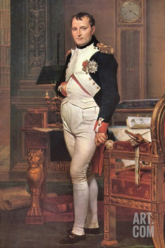 Portrait of Napoleon in His Work Room Stretched Canvas Print
