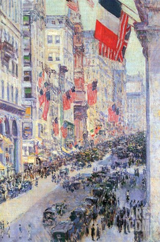 The Avenue Along 34th Street, May 1917 Stretched Canvas Print