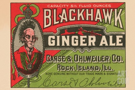 Blackhawk Ginger Ale Stretched Canvas Print