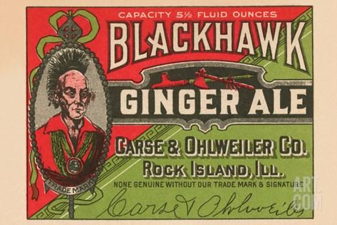 Blackhawk Ginger Ale Stretched Canvas Print