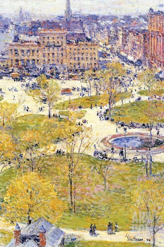 Union Square in Spring Stretched Canvas Print