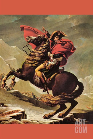 Napoleon Crosses the Great St. Bernard Pass Stretched Canvas Print