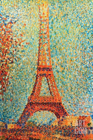 The Eiffel Tower Stretched Canvas Print