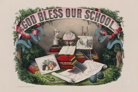 God Bless Our School Stretched Canvas Print