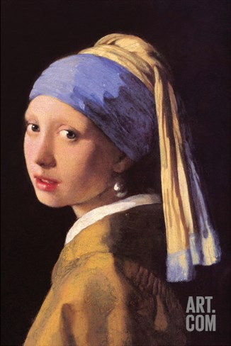 The Girl with the Pearl Earring Stretched Canvas Print