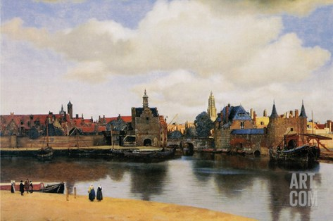 View of Delft Stretched Canvas Print