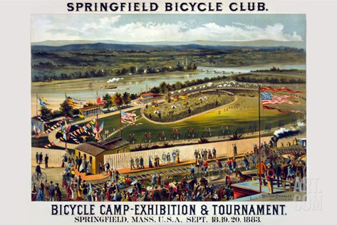 Springfield Bicycle Club Stretched Canvas Print