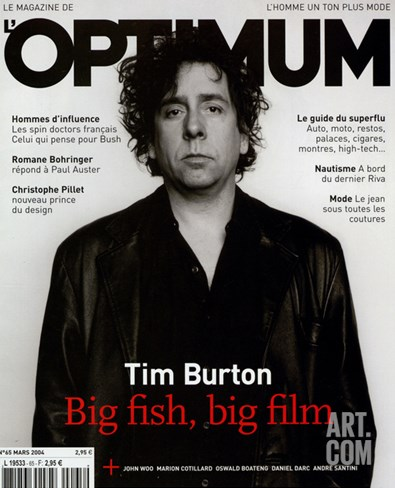 L'Optimum, March 2004 - Tim Burton Stretched Canvas Print