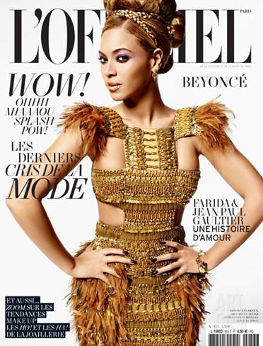 L'Officiel, March 2011 - Beyoncé Stretched Canvas Print