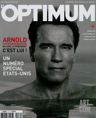 L'Optimum, November 2004 - Arnold Schwarzenegger Stretched Canvas Print