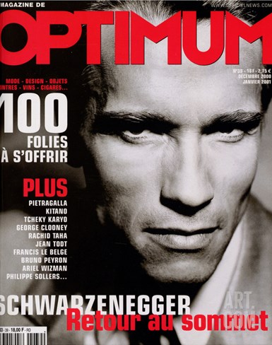 L'Optimum, December 2000-January 2000 - Arnold Schwarzenegger Stretched Canvas Print