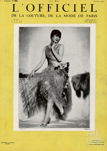 L'Officiel, February 1927 - Redfern Stretched Canvas Print