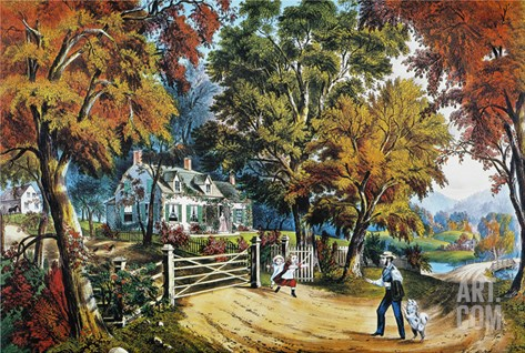 Home Sweet Home, 1869 Stretched Canvas Print