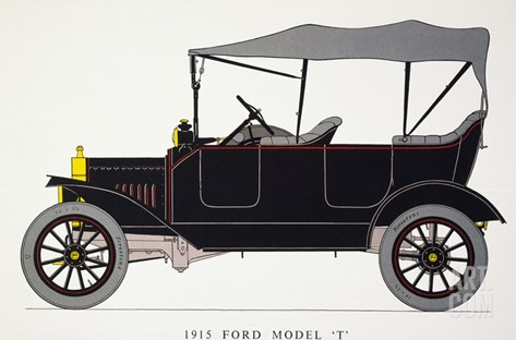 Auto: Model T Ford, 1915 Stretched Canvas Print