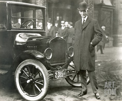 Henry Ford (1863-1947) Stretched Canvas Print