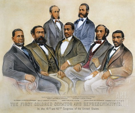 Black Senators, 1872 Stretched Canvas Print