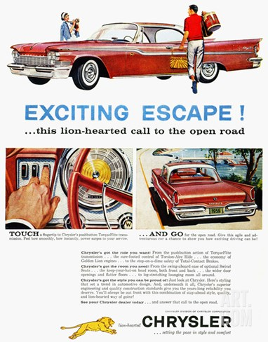 Chrysler Ad, 1959 Stretched Canvas Print