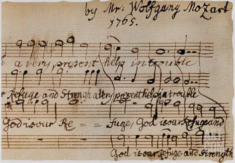 Mozart: Motet Manuscript Stretched Canvas Print