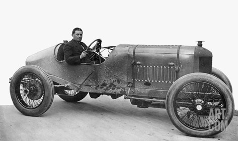 Race Car, 1914 Stretched Canvas Print