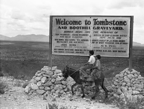 Arizona: Tombstone, 1937 Stretched Canvas Print