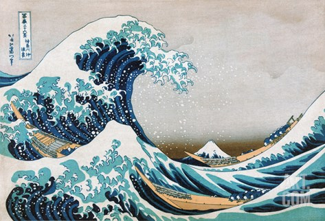 Katsushika: Great Wave Stretched Canvas Print
