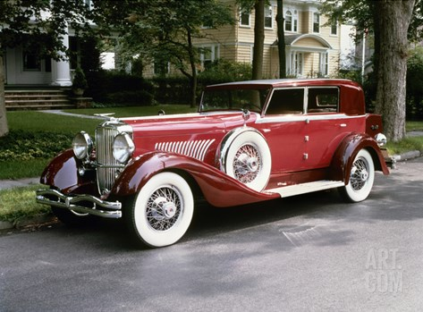 Duesenberg, 1930 Stretched Canvas Print