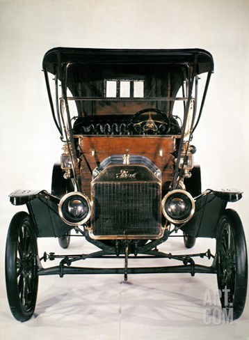 Model T Ford, 1910 Stretched Canvas Print