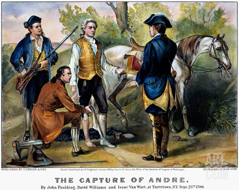 John Andre (1750-1780) Stretched Canvas Print