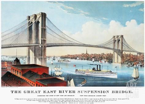 View of Brooklyn Bridge Stretched Canvas Print