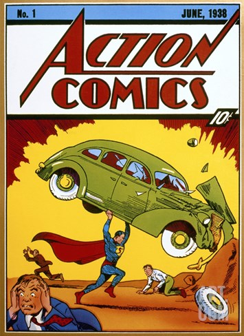 Superman Comic Book, 1938 Stretched Canvas Print