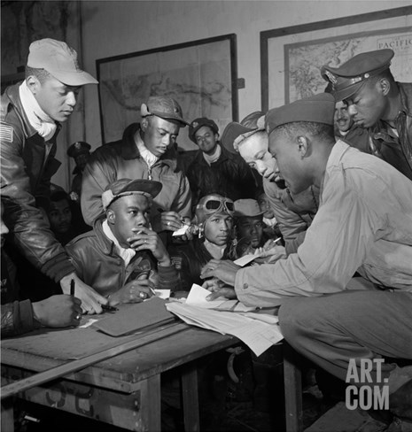 Tuskegee Airmen, 1945 Stretched Canvas Print