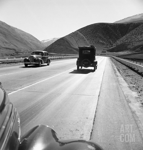 Rural Highway, 1939 Stretched Canvas Print