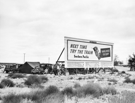 Billboard Camp, 1938 Stretched Canvas Print