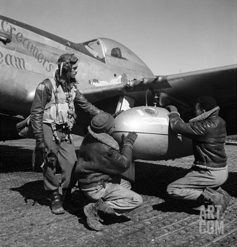 WWII: Tuskegee Airmen, 1945 Stretched Canvas Print