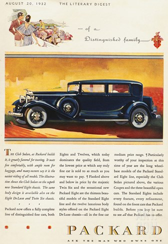 Ads: Packard, 1932 Stretched Canvas Print