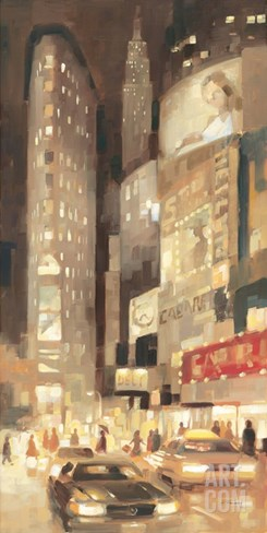 Midtown Glow Stretched Canvas Print