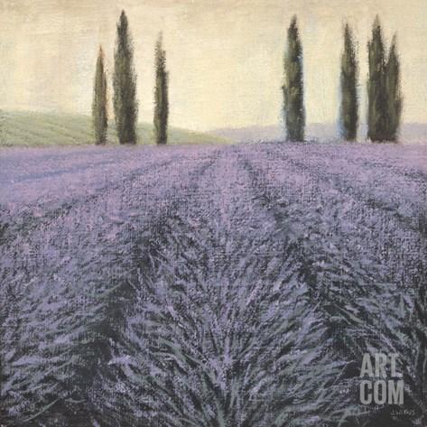 Lavender Horizon Detail Stretched Canvas Print