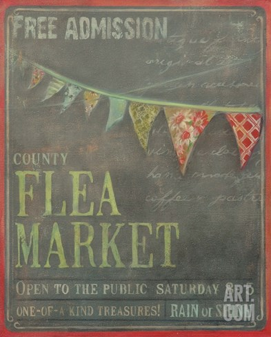 Country Flea Market Stretched Canvas Print