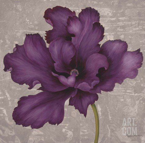 Black Plum 2 Stretched Canvas Print