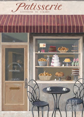 Bakery Errand Stretched Canvas Print