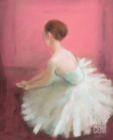 Ballerina Dreaming 2 Stretched Canvas Print