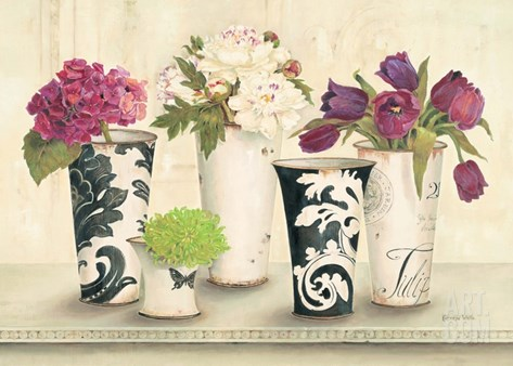 Tulip Elegance Stretched Canvas Print