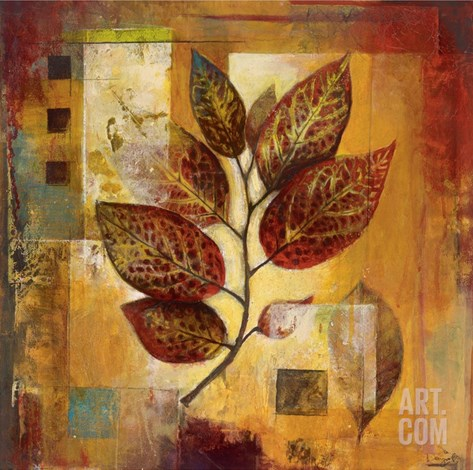 Modernist Autumn Stretched Canvas Print