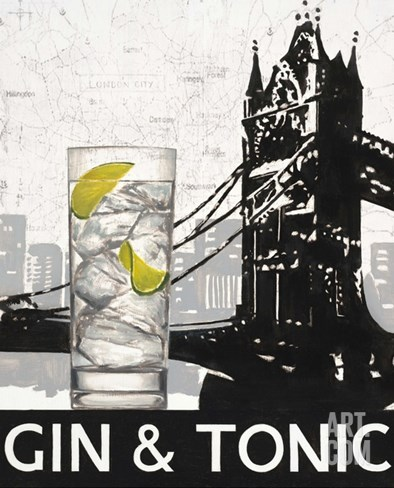 Gin and Tonic Destination Stretched Canvas Print