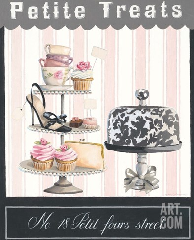 Petit Fours Street Stretched Canvas Print