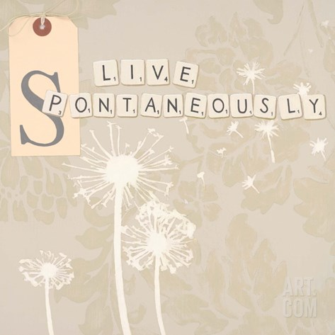 Live Spontaneously Stretched Canvas Print