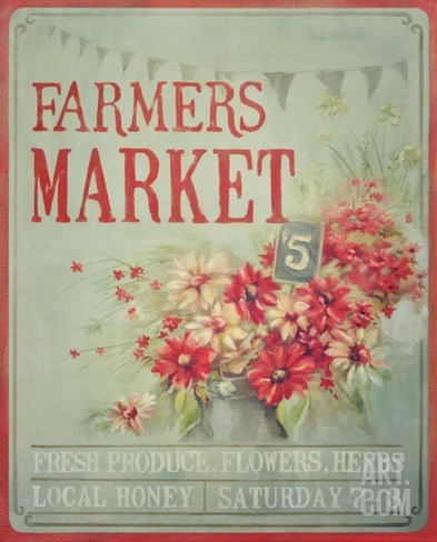 Market Flowers Stretched Canvas Print