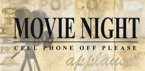 Movie Night Stretched Canvas Print