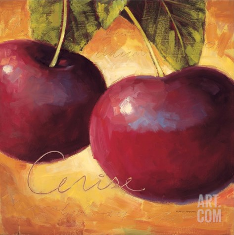 Luscious Cherries Stretched Canvas Print